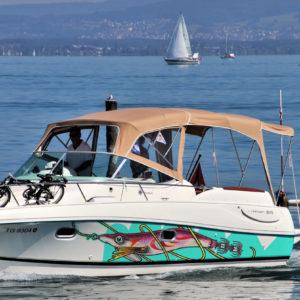 Covering bateau calamar