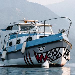 Covering mâchoire d'un bateau