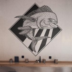 Fresque restaurant Mahi-Mahi