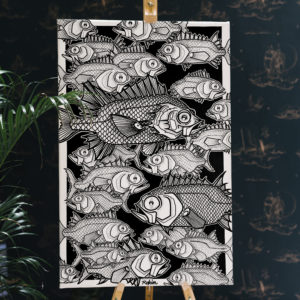 Peinture de cardinal fish