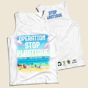 Débardeur personnalisé pour une opération stop plastique