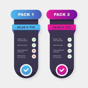 Pack d'offre pour des services de webdesign