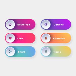 6 bouton de webdisgn pour un site internet