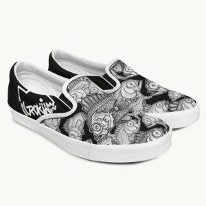 Chaussure personnalisé avec des poissons