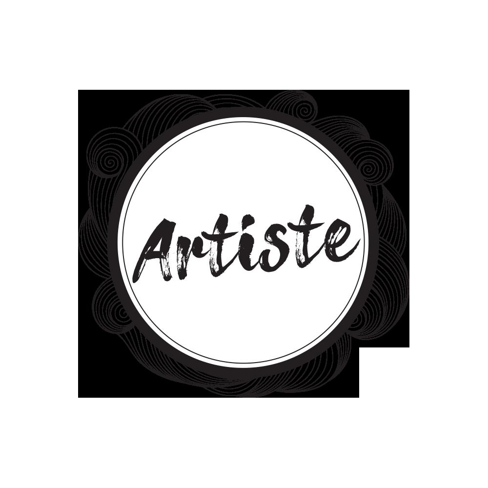 Bouton Artiste Noir et Blanc