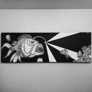 Toile Lantern fish abyss