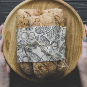 Dessin de pâtisserie sur une serveitte en papier