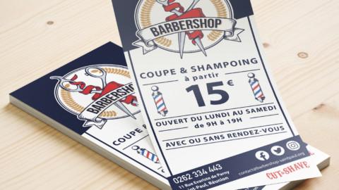 Flyer pour un barbier Barbershop