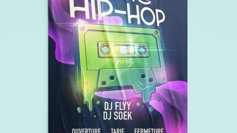 Affiche d'un concert retro hip hop