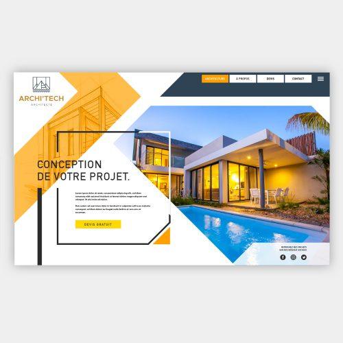 Page d'accueil d'un site d'architecte