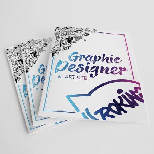 Brochure en é volets du Graphiste Rokin