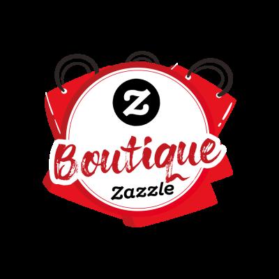 Bouton en rouge et noir notifé d'un logo Z et du texte boutique