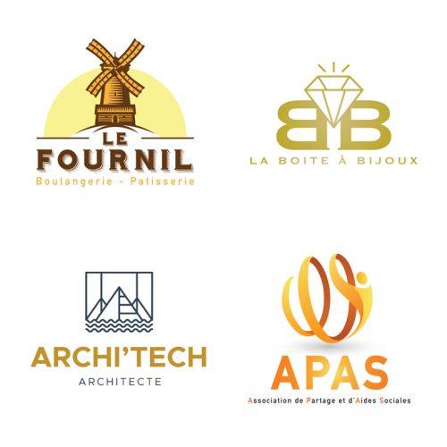 Panel de 4 logos différents